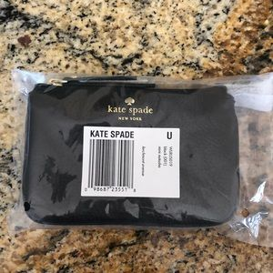 NWT Kate Spade black leather wallet.